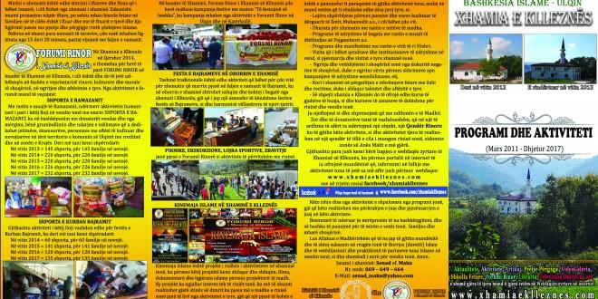 Programi dhe Aktiviteti (Mars 2011 – Dhjetor 2017)