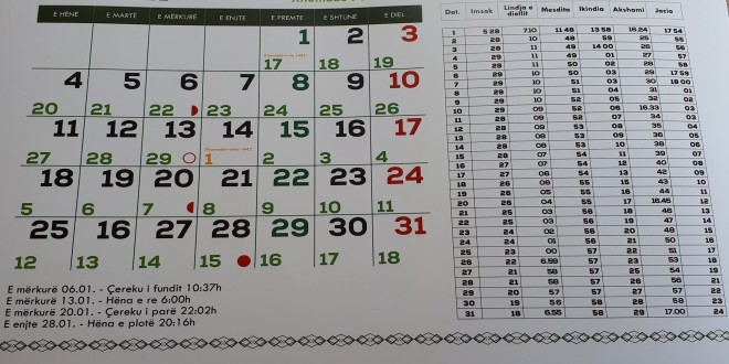 Kalendari 2021 – Bashkësia Islame Ulqin